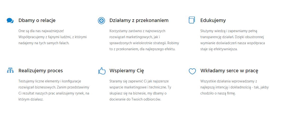Jak zrobić dobrą stronę internetową - przykład rozkładu elementów