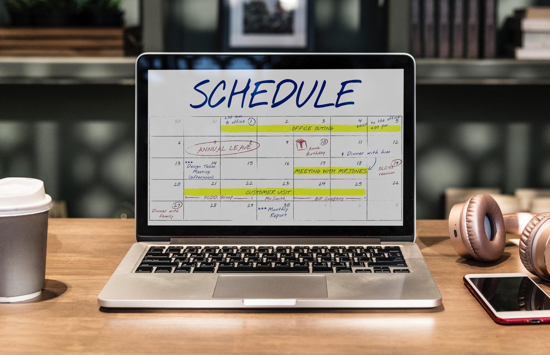 planowanie projektów w kalendarzu. Inmarketing
