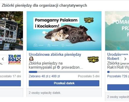 Akcje charytatywne na fb. Inmarketing