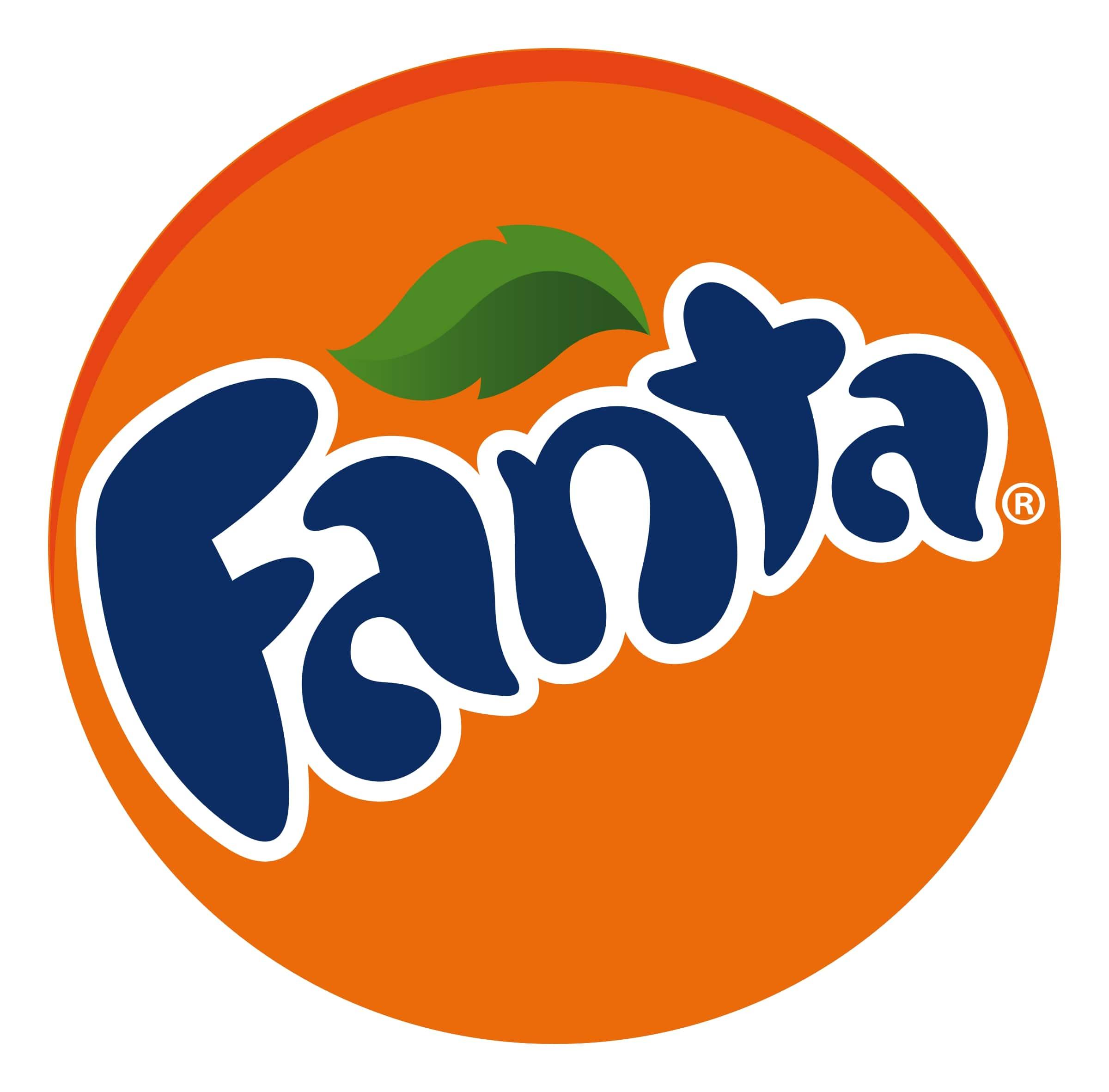 Pomarańczowe logo napoju. Inmarketing