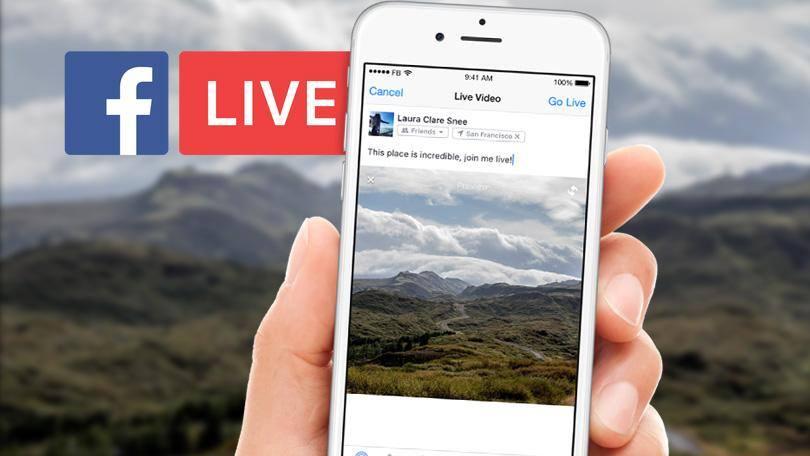 Transmisja Live na Facebooku na telefonie. Inmarketing.