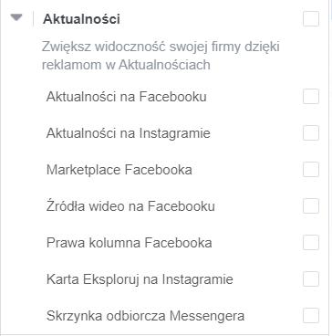 reklama na facebooku - aktualności