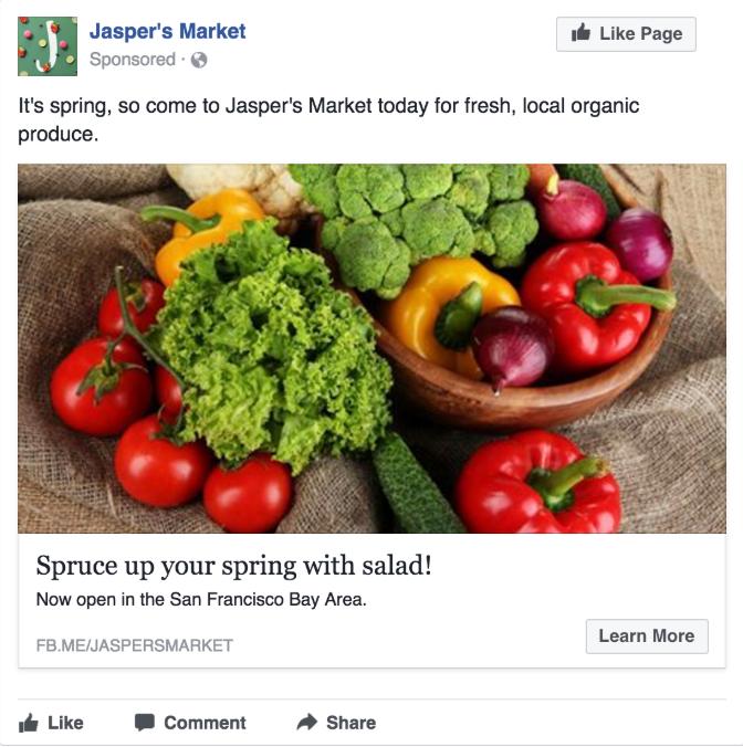 pojedyncza grafika jako reklama na facebooku