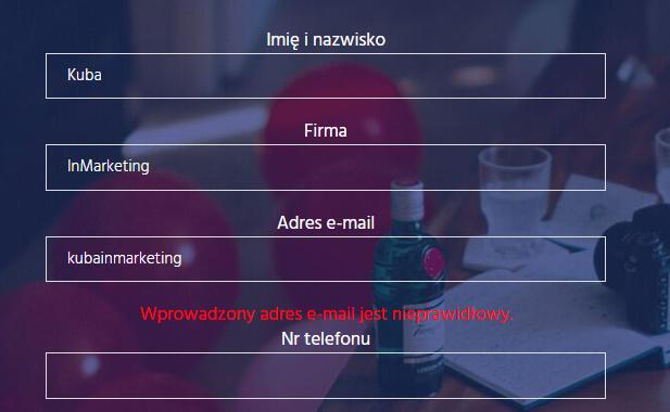 tworzenie stron internetowych - formularz