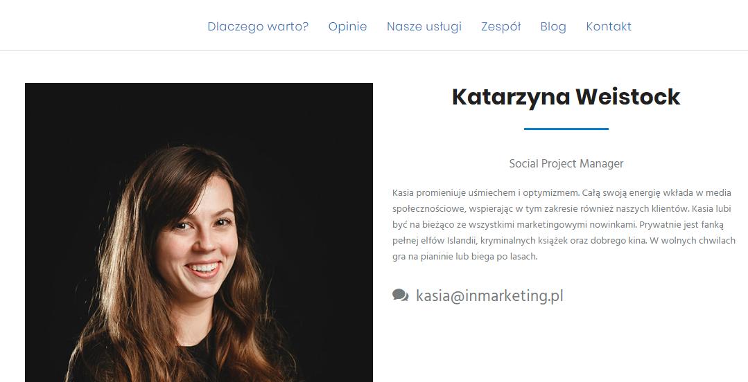 """tworzenie stron internetowych - klikalny element """"kontakt"""""""