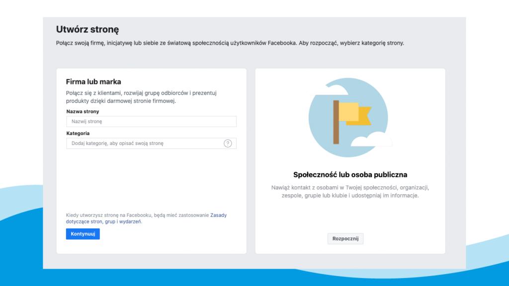 Jak stworzyć stronę na facebooku? - tworzenie strony