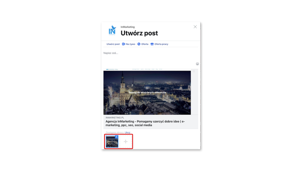 Post karuzelowy - utwórz karuzelę zdjęć (screen)