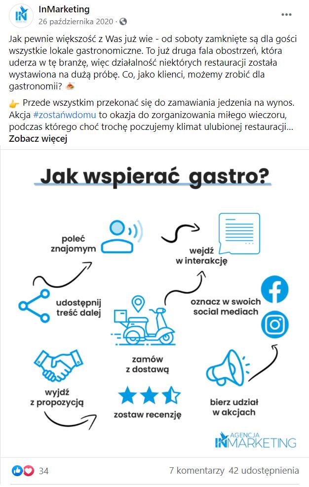 Posty na Facebooka przykłady