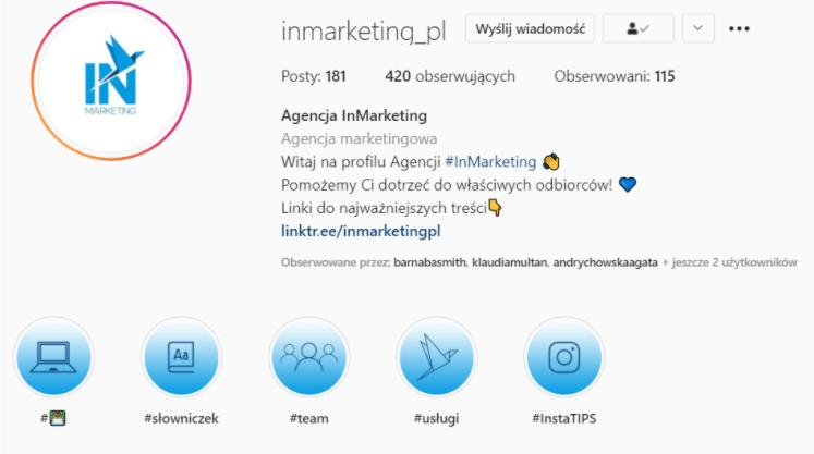 Prowadzenie social media bio inmarketing
